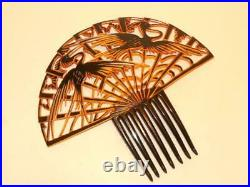 1920's Beautiful Very Rare Art Deco Vintage Celluloid Large Huge Hair Comb