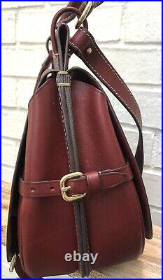 $650 New Dooney & Bourke Very Rare Stefania Wine Red Leather Double Side Bag