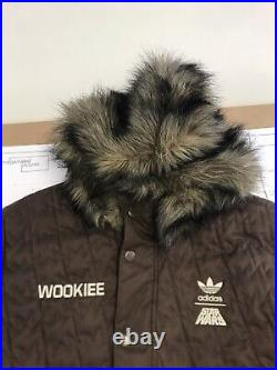 Adidas Star Wars Chewbacca Wookiee Brown Parka Large 2010. VERY RARE