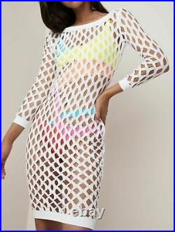 Agent Provocateur SOLEN Cover-Up M/L NWT White Orig. $295 VERY RARE