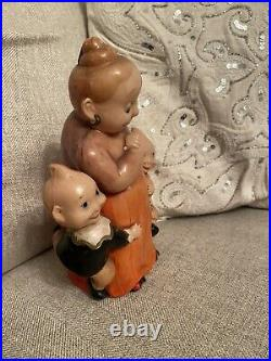 Antique 1920s Very Rare Large Katzenjammer Kids Comic Mama Celluloid Doll Japan