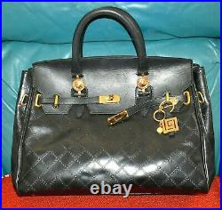 Authentic, Very Chic Rare Vintage Versace Large Hand Bag