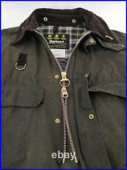BARBOUR Spey Fishing WAXED Jacket Green Size Large Excellent Condition Very Rare