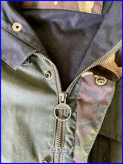Barbour Cowen Commando Large Waxed Jacket Green And DPM. Very Rare