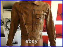 Belstaff Howard Aviator Leather Jacket DI Caprio Size L Very Very Rare