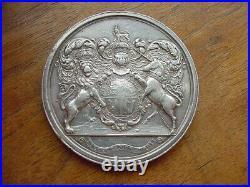 C. 1683-Charles 2nd large silver presentation medal by John Roettiers, very rare