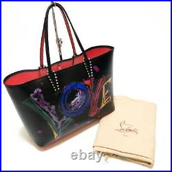 Christian Louboutin Tote Bag CABATA LOVE Collection Black from JP Very Rare Auth
