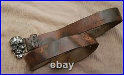 DIESEL BSKULL BELT 103CM X 4CM made in italy VERY RARE EXCELLENT CONDITION