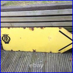Enamel Vintage very rare old road AA Sign Double Sided large