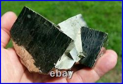 Exceptional, Very Rare, Large Bright Golden Pyrite Crystal Cluster, Italy