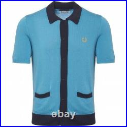 Fred Perry X Miles Kane Very Rare knit style Shirt size Large mod weller