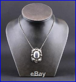 GEORG JENSEN Sterling Silver Pendant # 171 with Silverball. LARGE. VERY RARE