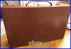 Genuine Hermes Jewellery Box Case Large Bag Oxblood Leather Luggage Very Rare