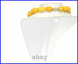 German Antique Very Rare Baltic Amber Bead Necklace Large A0194 RRP£35000
