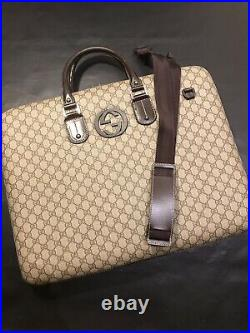 Gucci Gg Garment Hard Sided Bag 189761 Case Very Rare XL 100 Percent Authentic