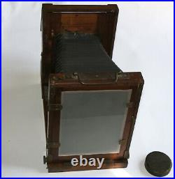 Herlango Very Rare Large Format 5x7 Austrian Large Forma Wooden Camera and Lens