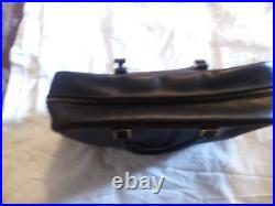 Hermes purse leather vintage brown calf. Very Rare Gold Accents