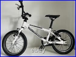 ISLABIKE CNOC 14 Large Childs Bike In White. Special Edition And Very Rare