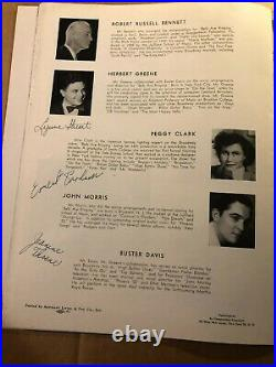 Judy Holliday Very Rare Autographed Large Program Plus 33 Other Autographs