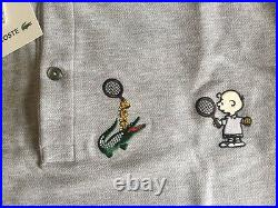 LACOSTE/PEANUTS/CHARLIE BROWN men's polo, MADE IN JAPAN! VERY RARE! NWT