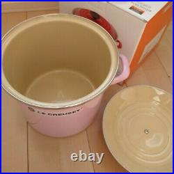 Le Creuset Stockpot Large Size 7.6L Pink Color Very Rare