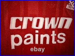 Liverpool Crown Paints 1987/1988 Football Shirt Men's Large Very Rare Size
