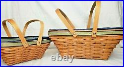 Longaberger 2003 Leadership Excellence Basket Combo Large & Small Very Rare