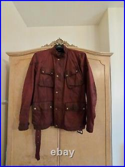Mens Belstaff Cardinal Red Trail Master Jacket RRP £750 STUNNING AND VERY RARE