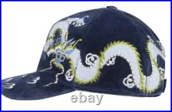 New In Bag Authentic Gucci Dragon Velvet Cap Hat Very Very Rare Size Large