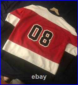 OVO Hockey Jersey Red White Black size Large Octobers Very Own Drake RARE