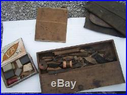 RARE Antique Shoemakers tools cobblers shoe repair. Very very large amount