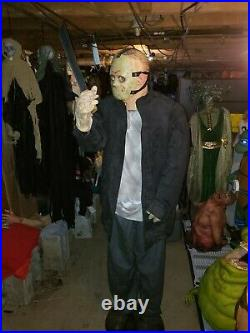 RARE working Halloween prop JASON life size gemmy very large prop animatronic