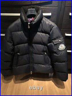 Rare Moncler Navy Down Coat Large Badge (Size 4)(Fits Size L Or XL) Very Warm