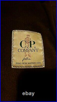 Rare vintage CP COMPANY Leather Bomber Jacket Size 52 or L/XL VERY GOOD Cond