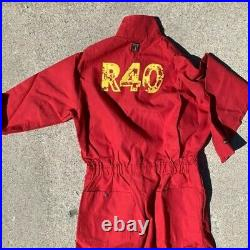 Rush R40 tour jumpsuit VERY RARE Geddy Lee Neil Peart Alex Lifeson