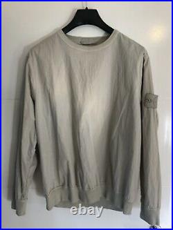 Stone Island Ghost Cotton Resin Sweater Beige L Large Smock VERY RARE