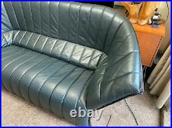 Stunning and Very Rare Ligne Roset Moel Large Leather Designer Sofa