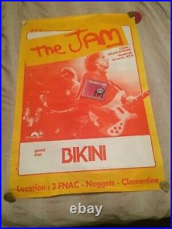 The Jam Official Original Very Rare Gig Poster Lyon France 82 Weller Very Large