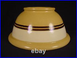 VERY RARE 1800s LARGE 11 JEFFORDS POTTERY WHITE & BLACK BAND BOWL YELLOW WARE