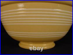 VERY RARE 1800s LARGE AMERICAN 12 INCH 9 BAND BOWL YELLOW WARE MINT