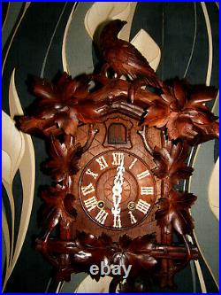 VERY RARE KEY WOUND Antique Black forest LARGE Cuckoo/ clock Germany 1880