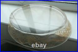 VERY RARE Lalique VERY LARGE dish / fruit bowl. Stained brown glass. Pre 1945