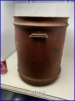 VINTAGE COKE COCA COLA, LARGE WHEELING SYRUP DRUM CAN CANISTER Very Rare