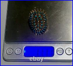 Very LARGE RaRe Zuni petit point solid 14k gold vintage ring