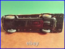 Very Rare 1950s Marusan Japan Large Tin Friction Fire Ladder Truck with Or. Box