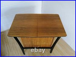 Very Rare 1950s Tola and Black G plan style Large Sewing Cabinet / Box on Wheels