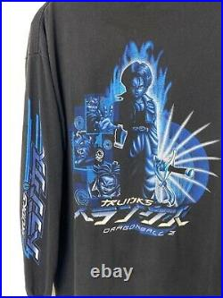 Very Rare 2002 Vintage Dragon ball Z T-shirt Trunks Adult Large double sided