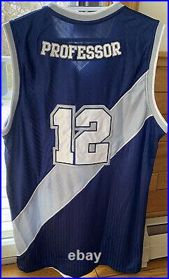 Very Rare And1 One MixTape The Professor Basketball Authentic Blue Jersey Large