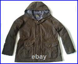 Very Rare Barbour International Hunt Wax Parka Large Vgc Cost £395