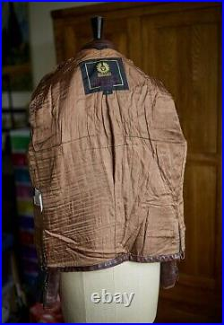 Very Rare Iconic Belstaff War Of The Worlds Hero Brown Leather Jacket Size L